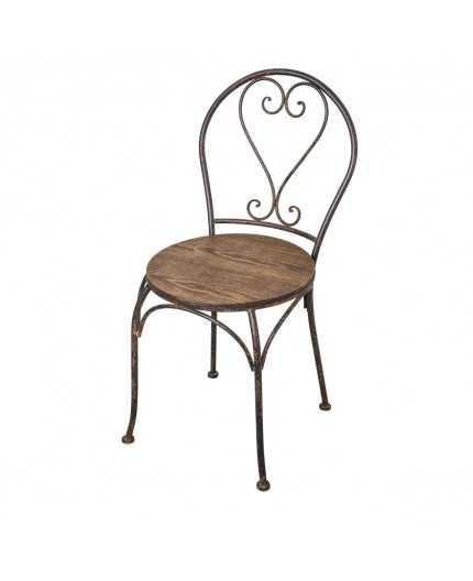 Chaise Fer Et Bois Coeur