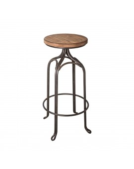 Tabouret De Bar Fer Forge.Tabouret De Bar Fer Forge Assise Bois