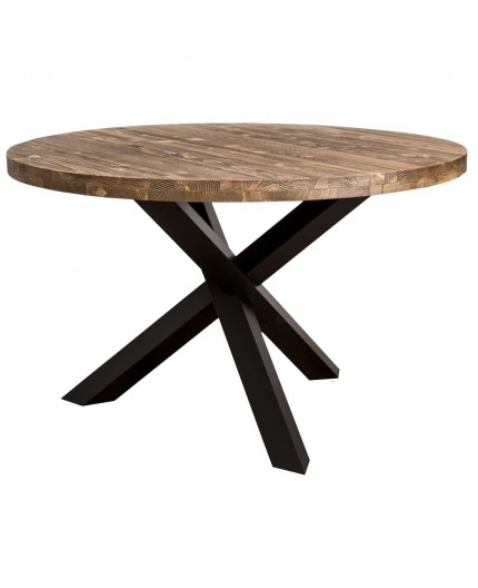 Y 130 x Table pied Ø 78 cms H industrielle X TOPXukZi